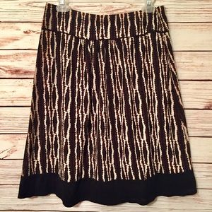 Alfani Petite Brown Pleated A Line Skirt